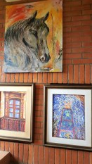 Art along the stairwell