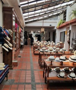 Panama hats for sale at the museum