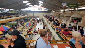 Our lunch table over looking the activity in the mercado