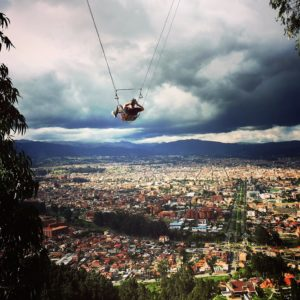 Swing over Cuenca