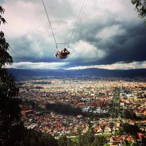 Swing over Cuenca