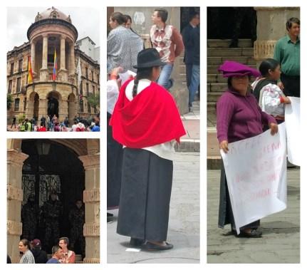 peaceful protest el centro cuenca