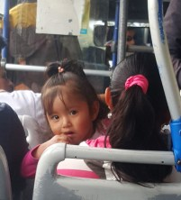 Little girl on bus