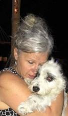 Heidi loving on Monte