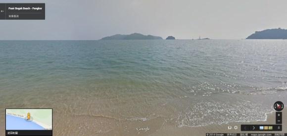邦咯岛海滩街景图