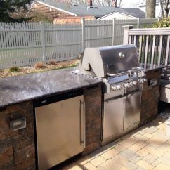 Outdoor Kitchen Bar Fisher Faucets Kitchens Bars Tode Landscape With Countertop And Brick Front