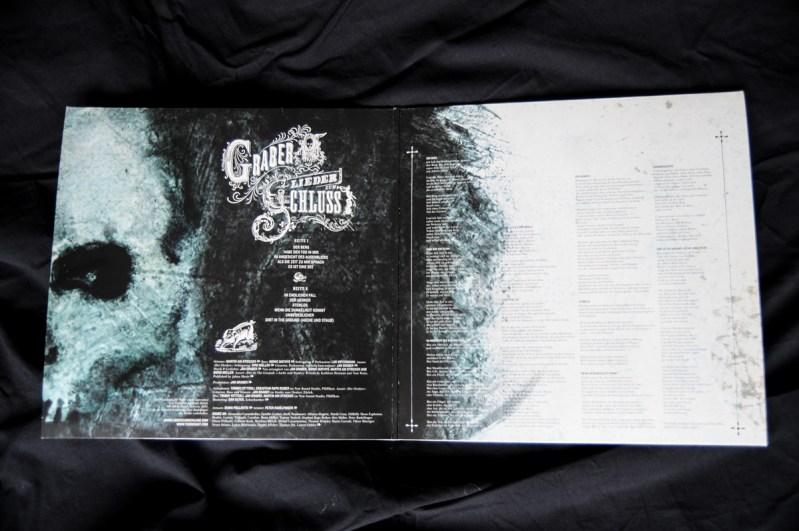GRABER-Lieder zum Schluss, Innencover