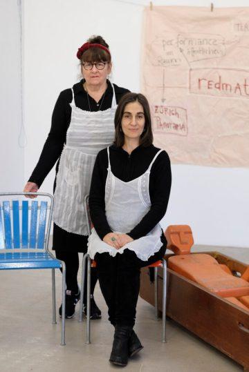 Christine Domkowski und Alexandra Carambellas werden das Frühstück anrichten.