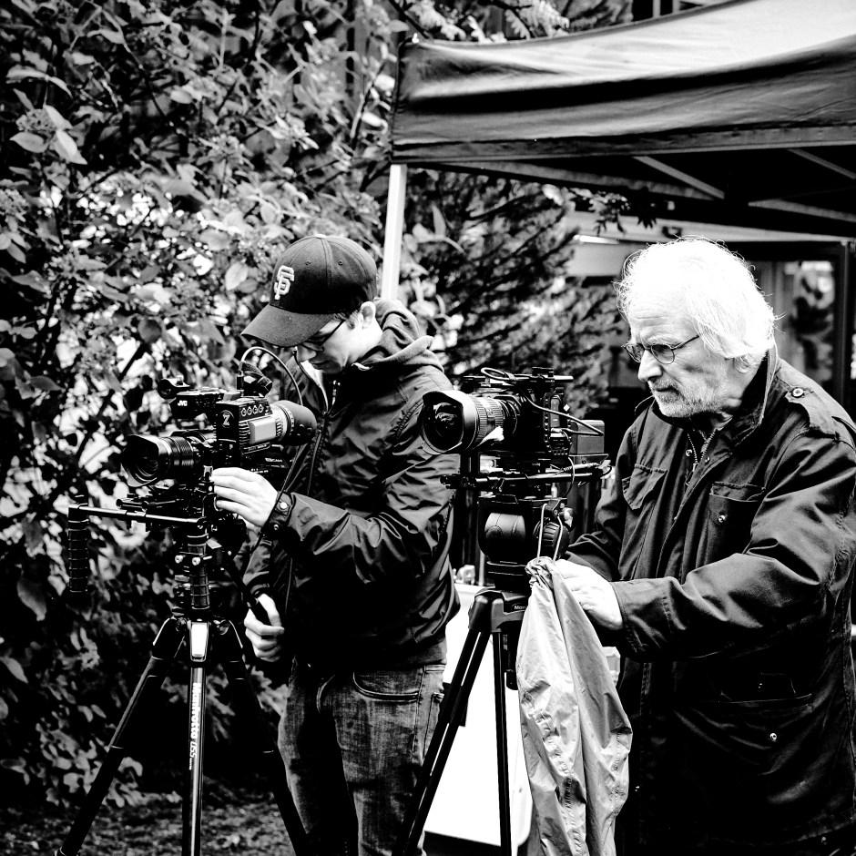 Daniel Barnbeck, Rainer Trinkler. Testtag für «Letzte Worte - Konzerte für die Toten». Foto: Corinne Koch