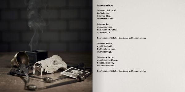 Booklet zum Album «GRABER: Schattenklang», Beispielseite