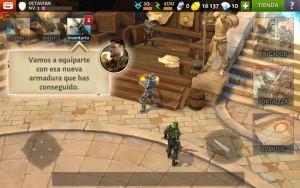 Dungeon Hunter V tutorial personalizar equipo