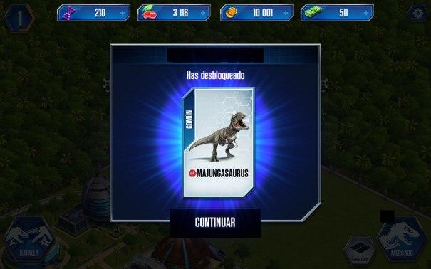 Jurassic World dinosaurio desbloqueado