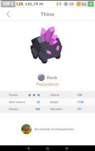 poco común roca