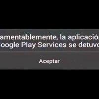 Error: Lo sentimos la aplicación Google Play services se detuvo