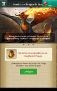 Dragons Of Atlantis conseguir Dragon de Fuego Adulto