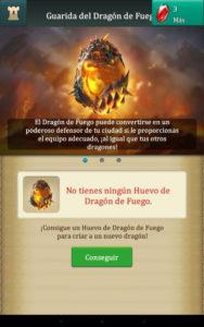 Dragons Of Atlantis conseguir Huevo de Fuego