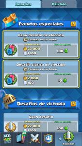 Clash Royale desafios