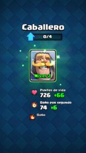 Clash Royale subir carta nivel