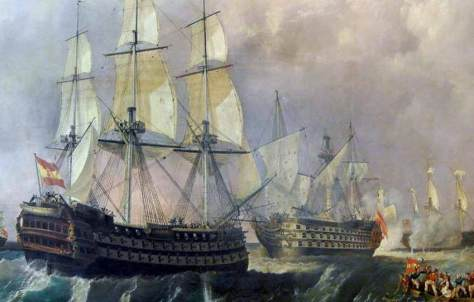 """Navío Santísima Trinidad, llamado erróneamente """"El Escorial de los mares"""""""