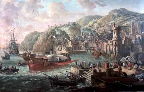 Galera en un puerto italiano