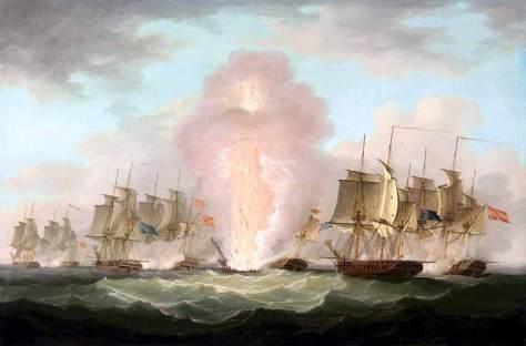 Voladura de la fragata Mercedes en tiempo de paz. 1804