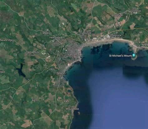 zona ataque españoles en cornualles