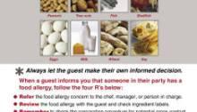 Cartel alergia alimentaria