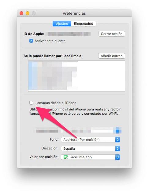 Llamar desde un Mac