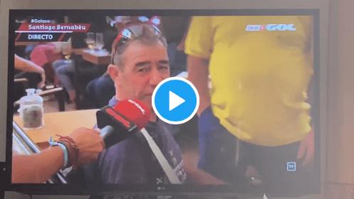 VIDEO: Vacile de época de unos obreros colchoneros del Bernabéu