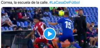 VIDEO: El regate imposible de Correa en pleno partido