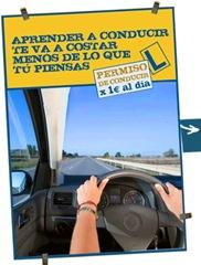 permiso de conducir por 1 € al dia