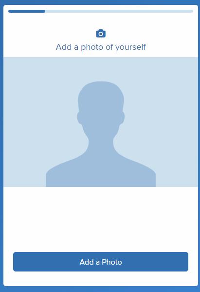 introducción de foto de perfil en about me