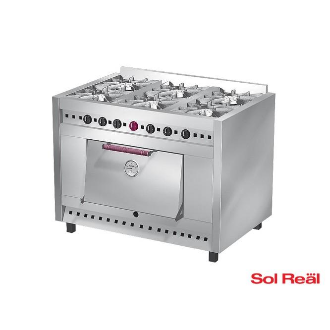 Cocina 6 hornallas Sol Real  Cocinas  Catalogo