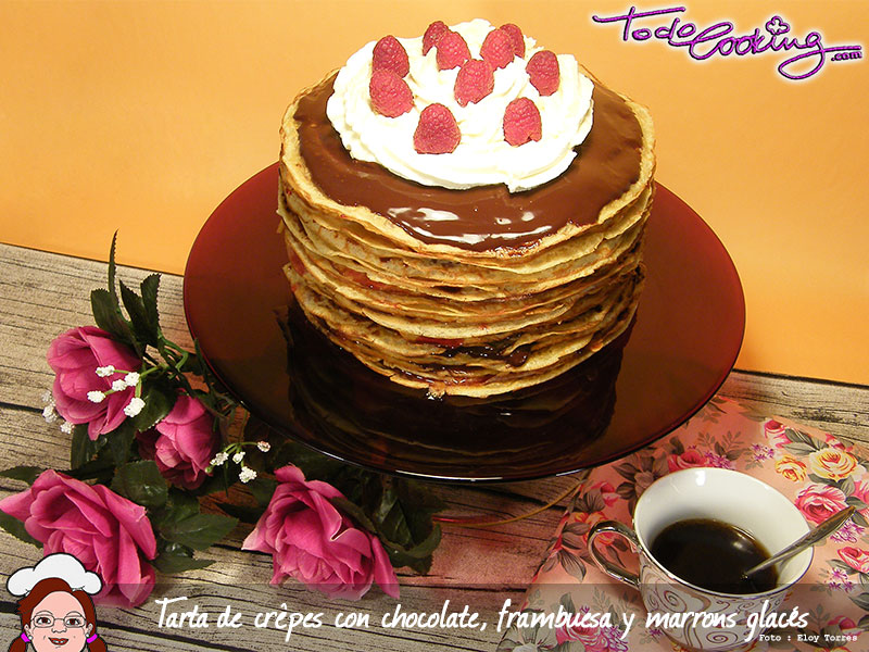 Tarta Crepes Chocolate