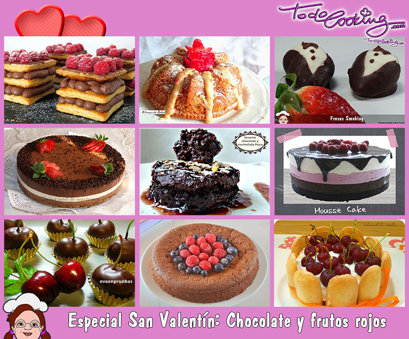 Especial San Valentin Chocolate y frutas del bosque