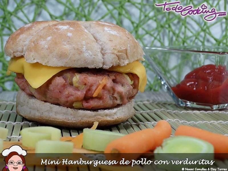 Mini Hamburguesa de pollo con verduritas