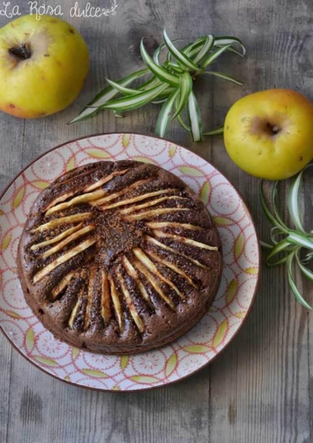 ##PASTEL-DE-CHOCOLATE-Y-CANELA-CON-MANZANAS bizcochos y otros dulces