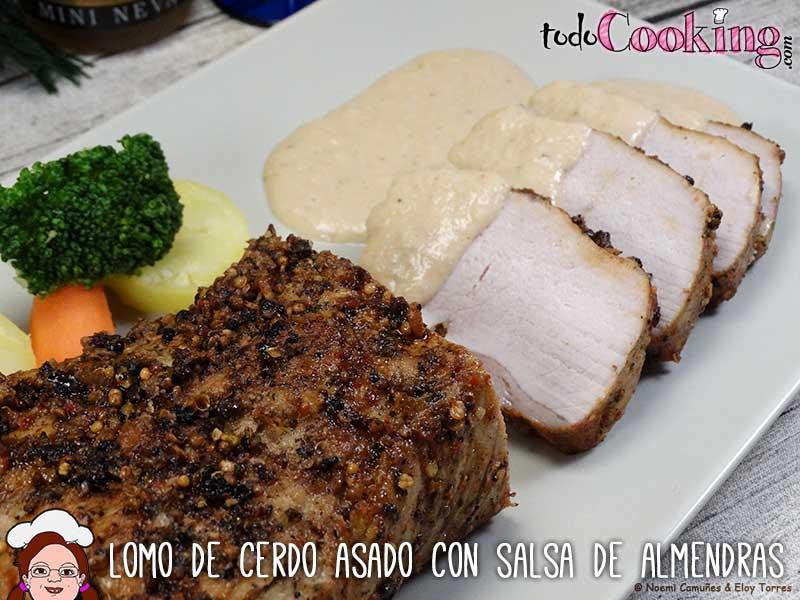 Lomo cerdo asado salsa almendras - recetas navideñas