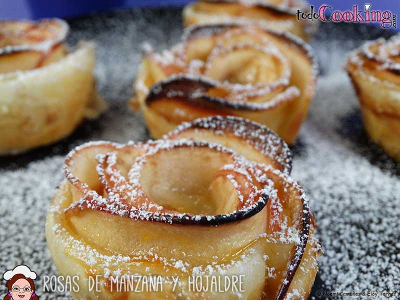 rosa de manzana y hojaldre