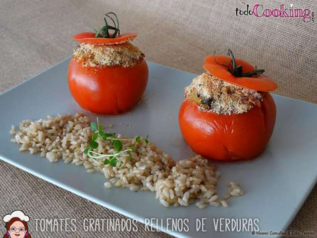 tomates gratinados rellenos