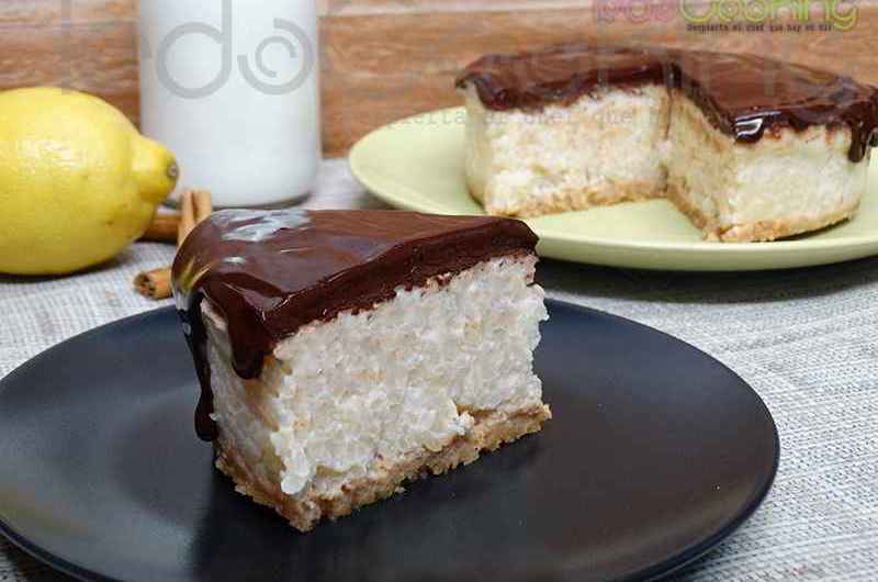 Tarta de Arroz con leche y chocolate