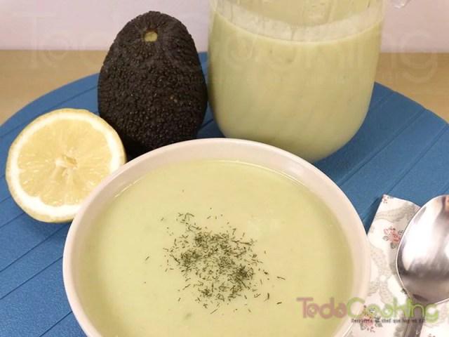 Gazpacho de aguacate - recetas saludables