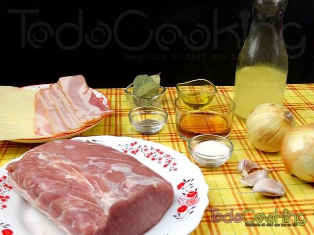 Lomo de cerdo relleno de bacon y queso