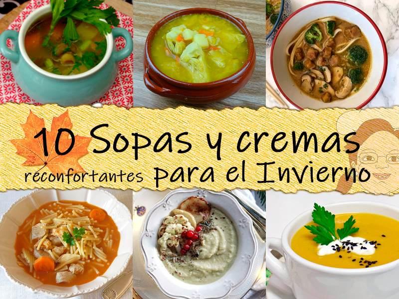 10 Sopas y cremas reconfortantes