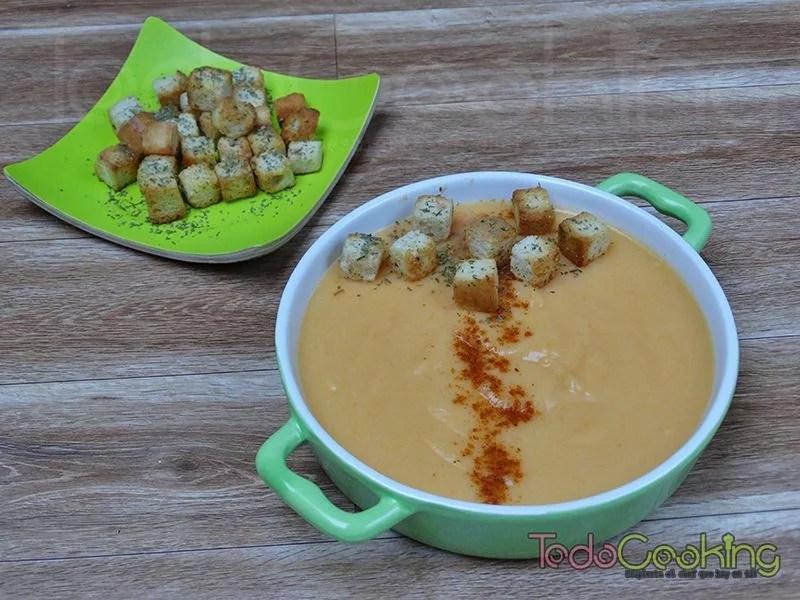 Crema de zanahoria y calabacin