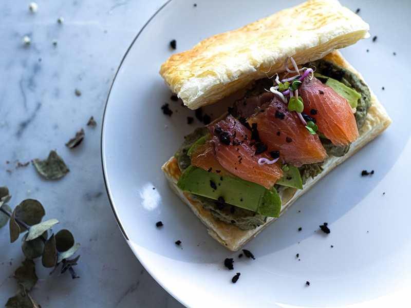 recetas fáciles de entrantes y primeros - milhojas de salmón