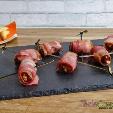 Datiles con bacon y nueces