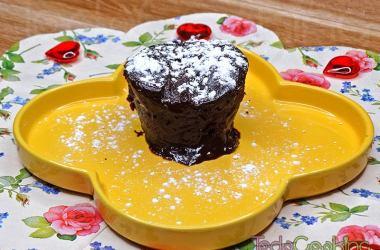 Coulant de chocolate en microondas