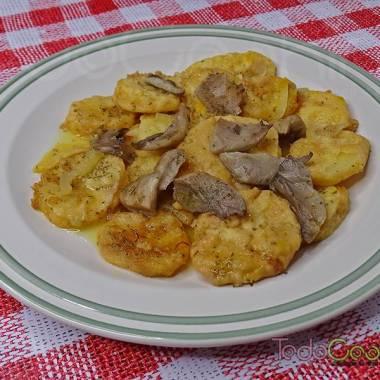 Patatas a la importancia con setas