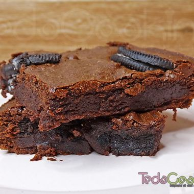 Brownie de chocolate con Oreo 03